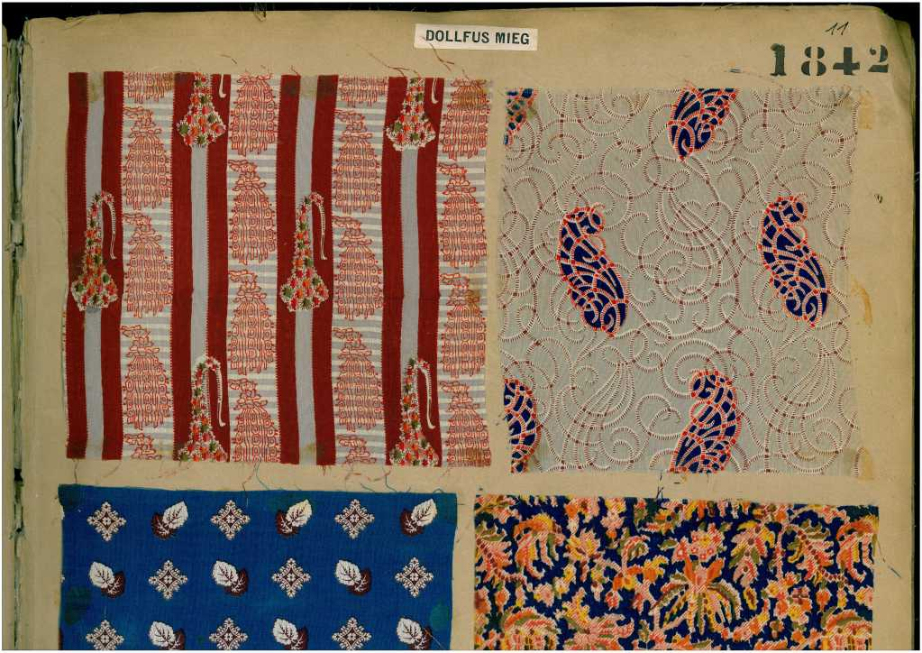 19th Century Sample Book of printed Fabrics and Textiles