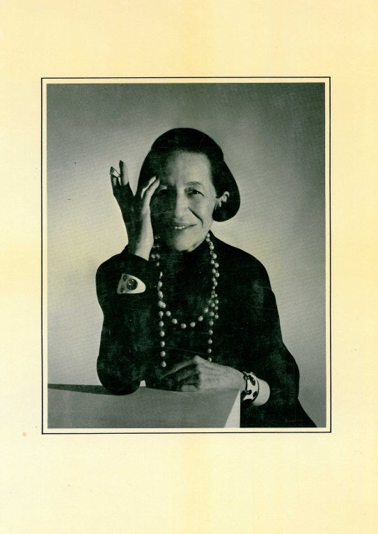 Diana Vreeland had a hand in guiding the world of fashion for approximately half of the 20th century, firstly as fashion editor of  Harper's Bazaar and then as editor in chief of Vogue. In this book she has chosen pictures by some of the great