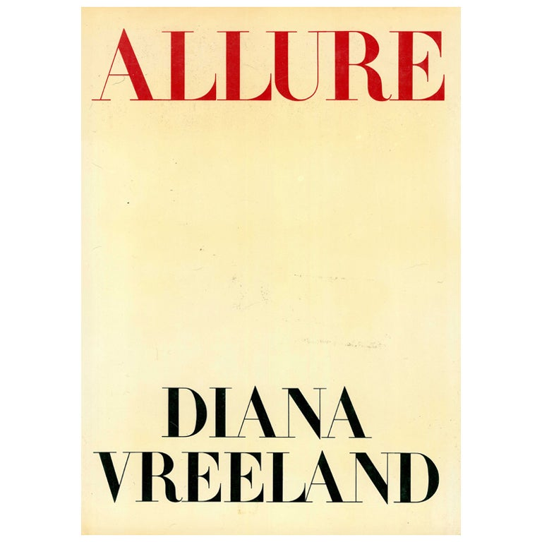 Allure by Diana Vreeland (book) For Sale