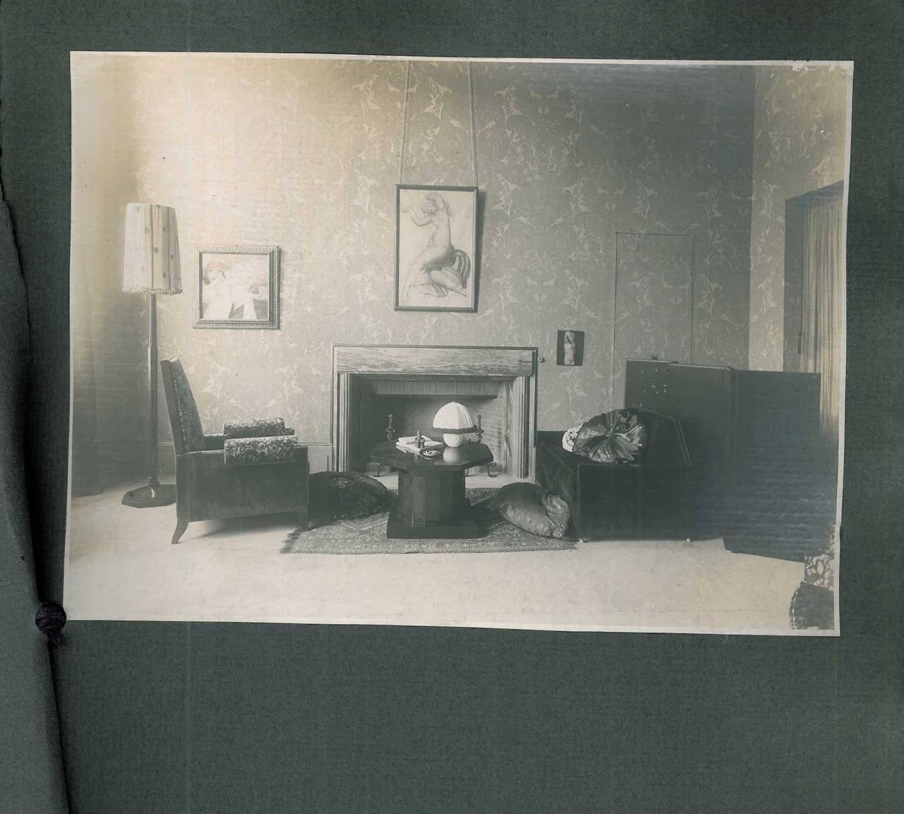 A unique photograph album in original grey card wrappers with the Ruhlmann name embossed on the front and the name of the client Monsieur Molinie also inscribed on the front cover. The album contains six large mounted original photographs, one per