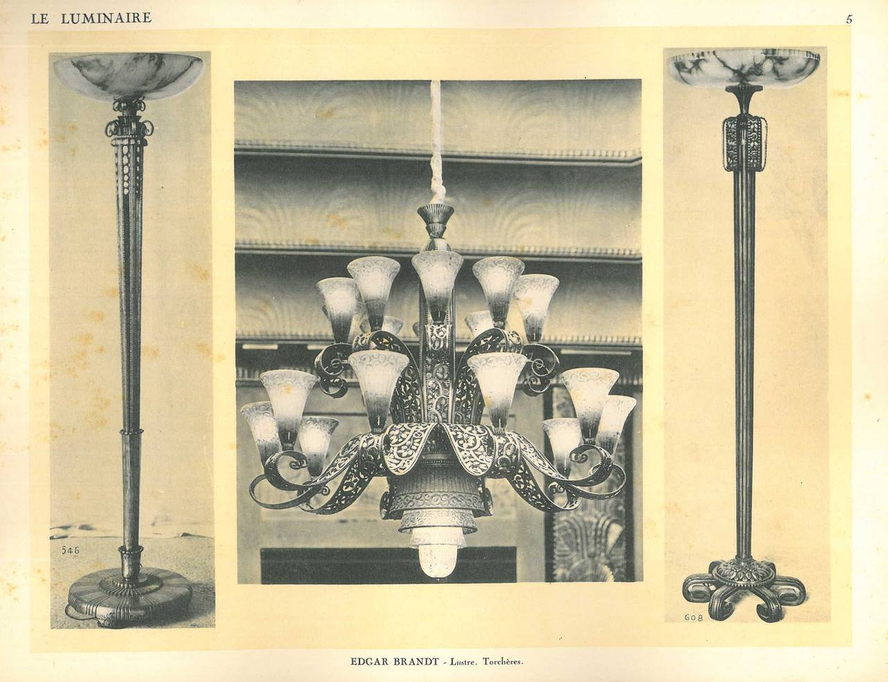 le luminaire et les moyens d 39 eclairages nouveaux folio at 1stdibs. Black Bedroom Furniture Sets. Home Design Ideas