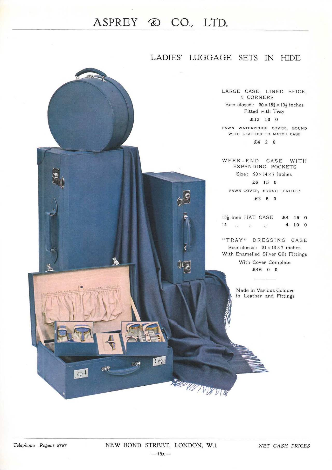 20th Century Asprey and Company Limited ( Art Deco Period Mail Order Catalogue ) For Sale