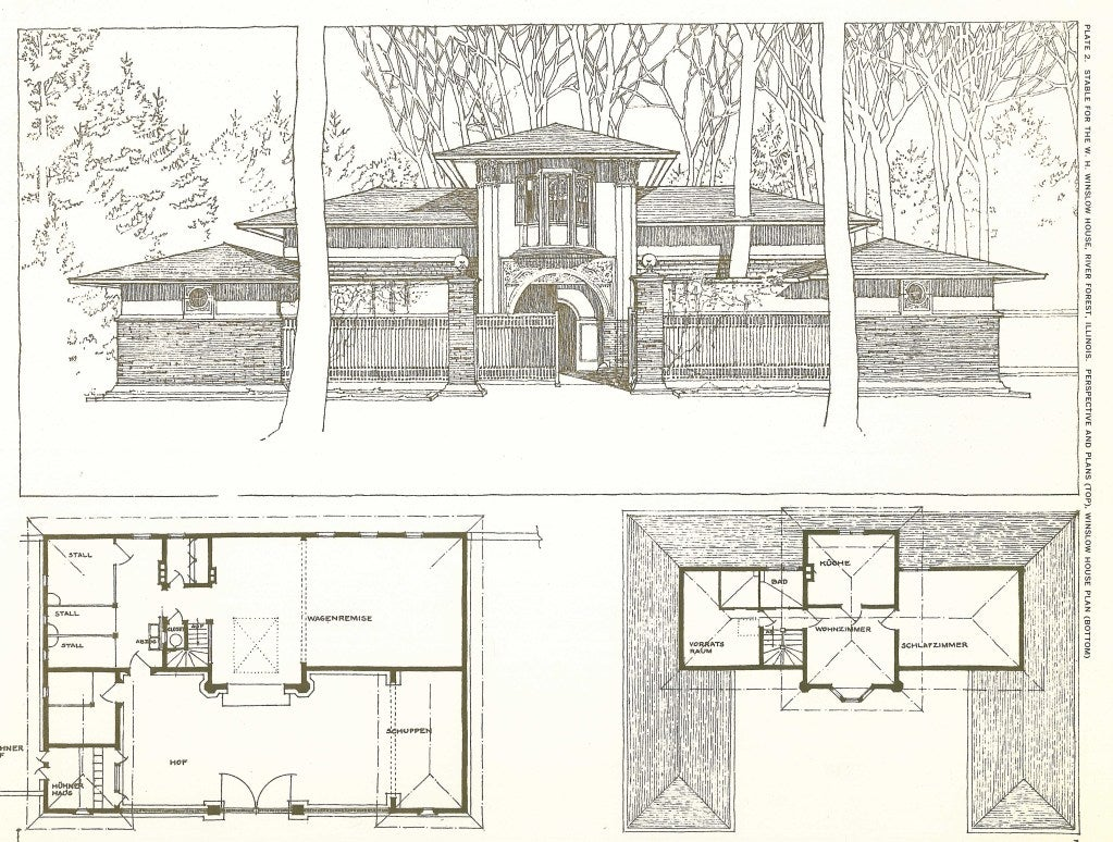 Buildings Plans Designs Frank Lloyd Wright Folio At