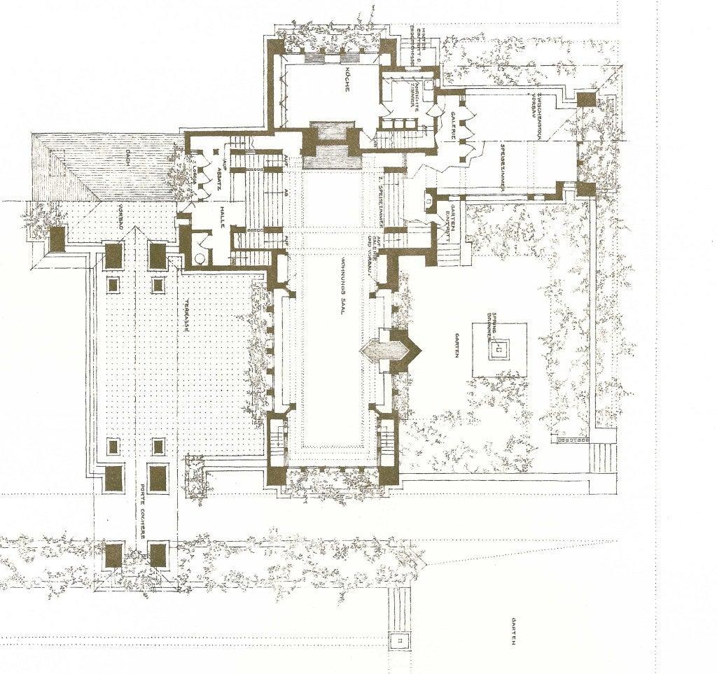 Buildings Plans Designs Frank Lloyd Wright Folio At