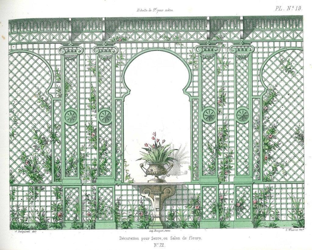 Fleur Pour Decoration Salon la decoration en treillage (decorative trellis patterns) at