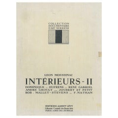 Interieurs II - by Leon Moussinac a book on 20 th century Interior Design