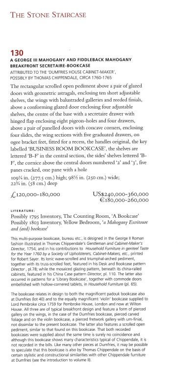 English Dumfries House - Sale Catalogue July 2007 For Sale