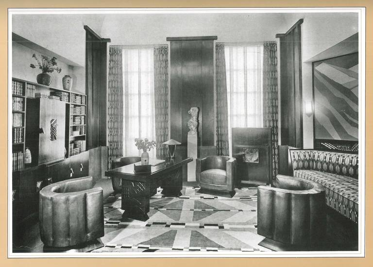authentic art deco interiors from the 1925 paris exhibition at 1stdibs. Black Bedroom Furniture Sets. Home Design Ideas