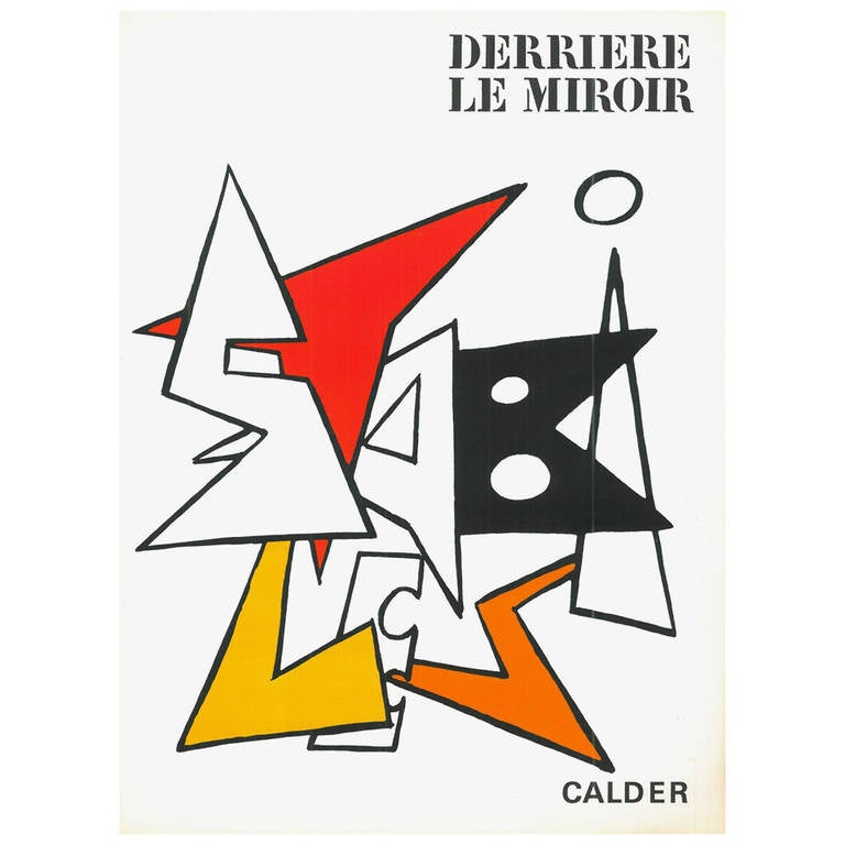 Derriere le miroir no 141 calder looseleaf folio for for Derriere le miroir