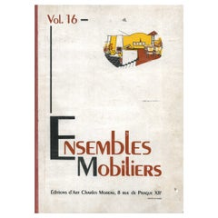 """Book """"Ensembles Mobiliers"""" Vol. 16 on 20th century furniture designers"""