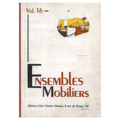 "Book ""Ensembles Mobiliers"" Vol. 16 on 20th century furniture designers"