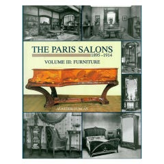 The Paris Salons 1895-1914: Furniture. Book.