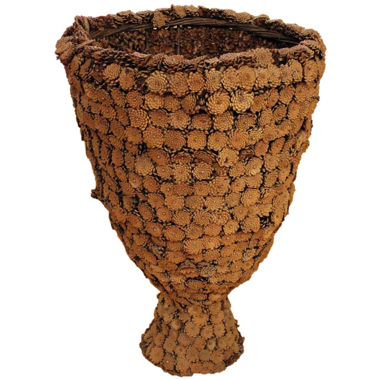 French Large Pine Cone Vase At 1stdibs