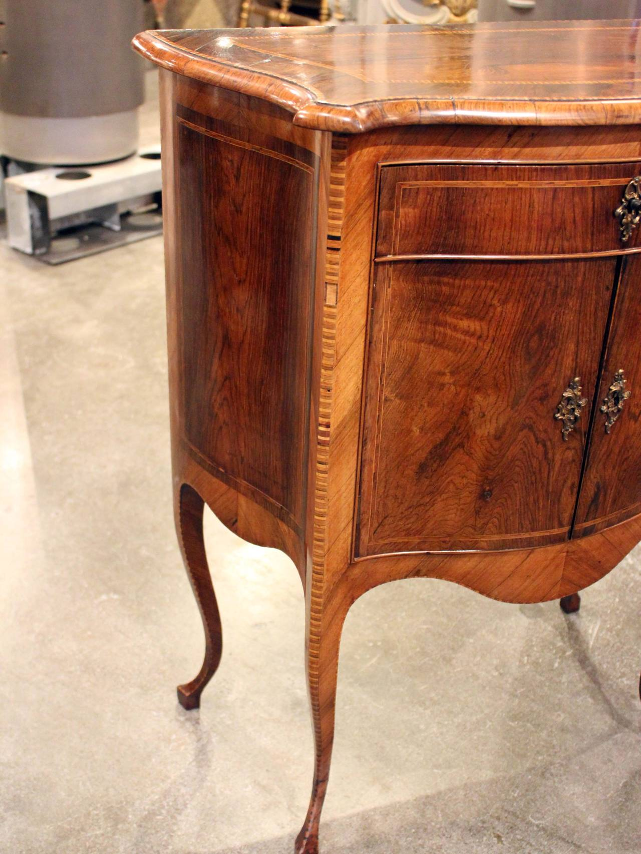 Italian Walnut Side Cabinet 6