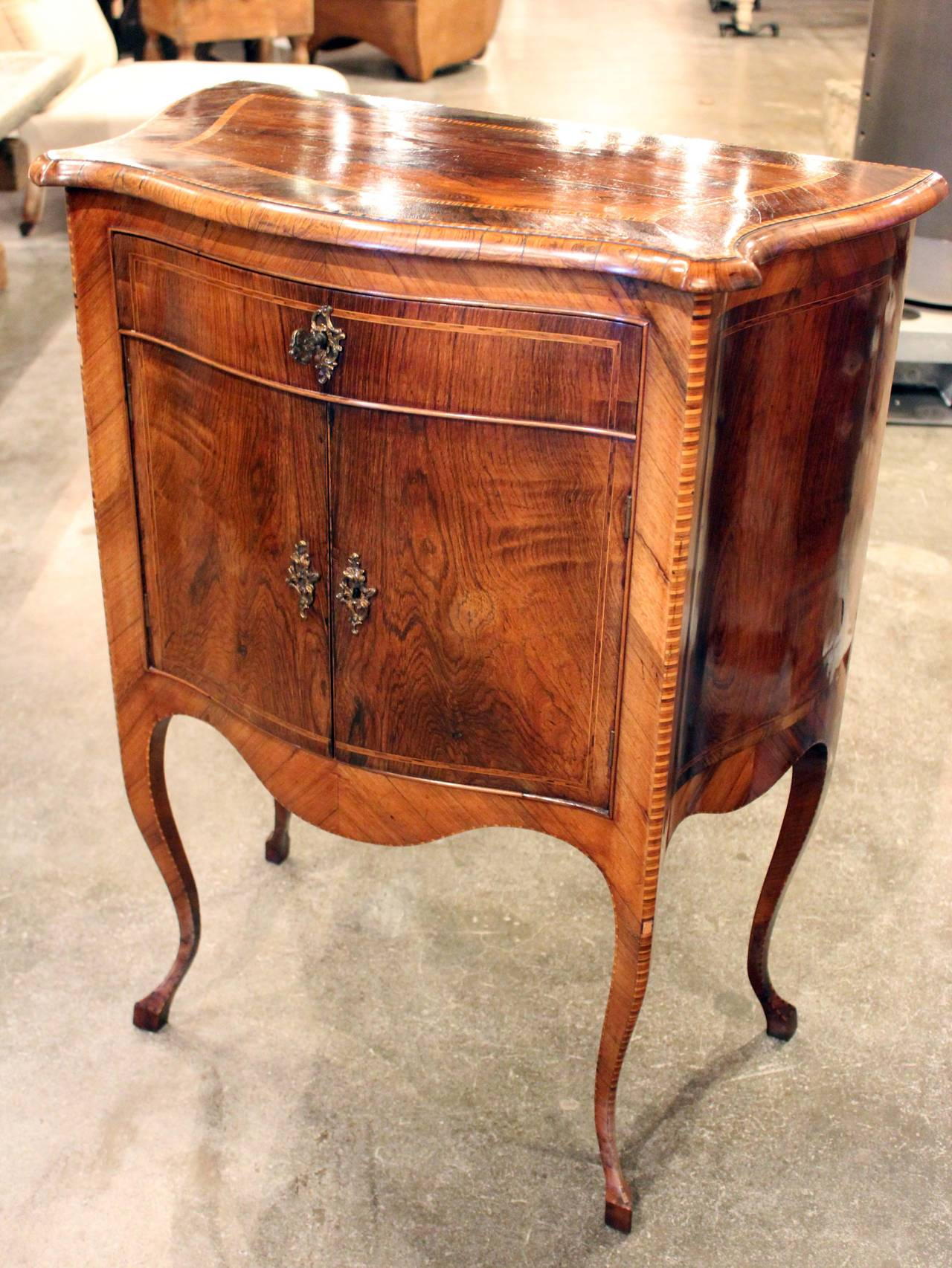 Italian Walnut Side Cabinet 2