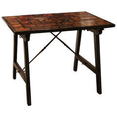 Ebony,Tortoise and Inlaid Low Table from Portugal
