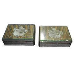 Pair of Mirrored Boxes