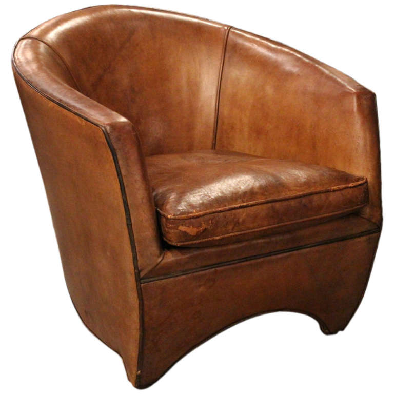 Leather Armchair By Bart Van Bekhoven Holland At 1stdibs
