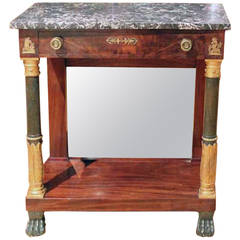 French Empire Console with Marble Top