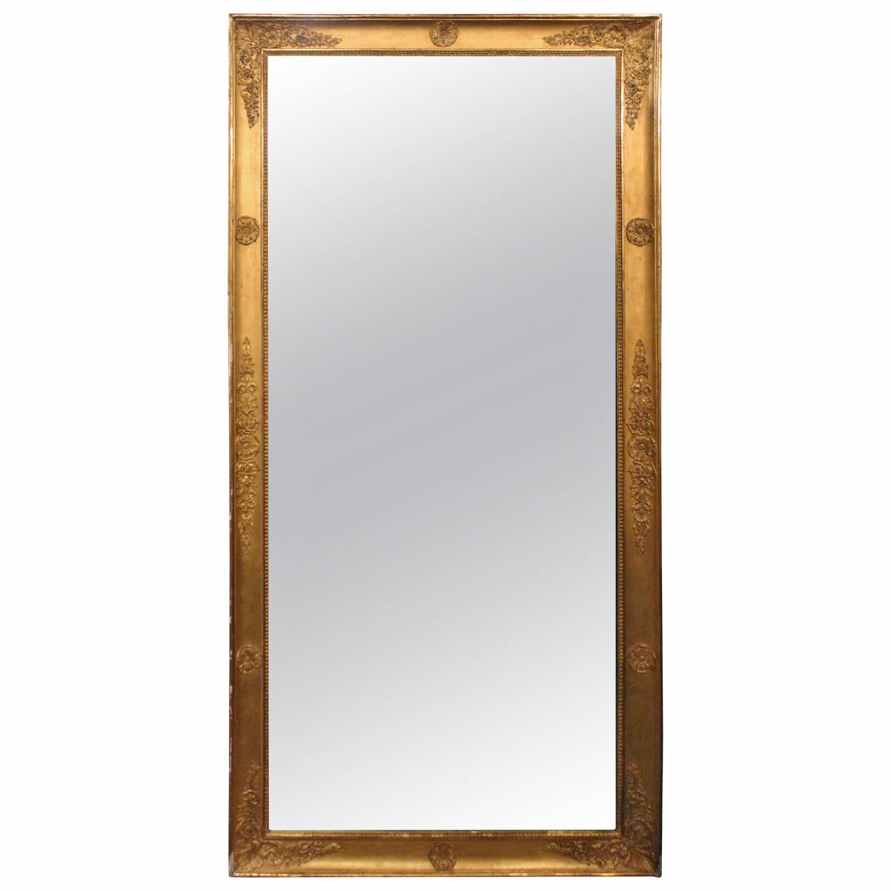 French tall mirror in gilt frame for sale at 1stdibs for Tall framed mirror