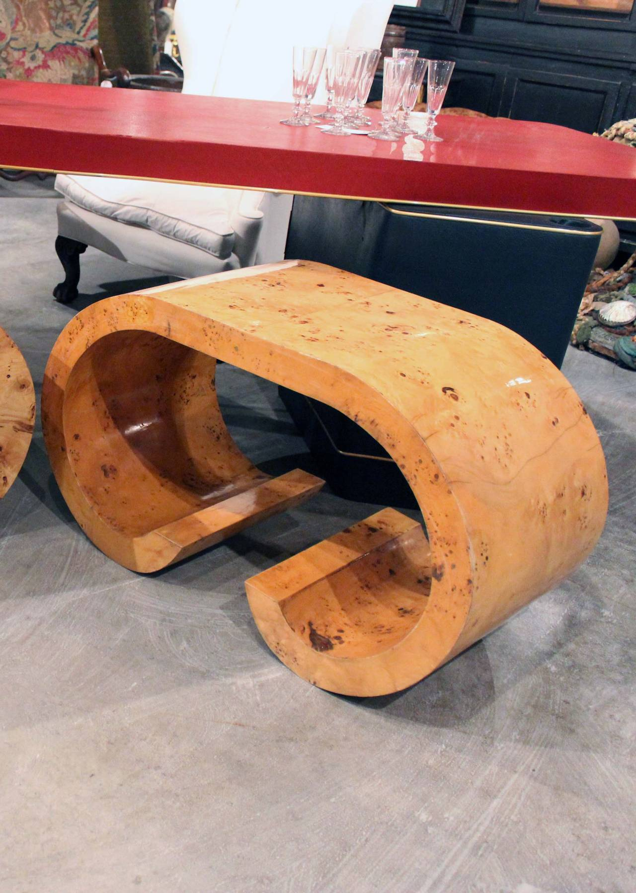 Pair of Italian Curved Shaped Tables 3
