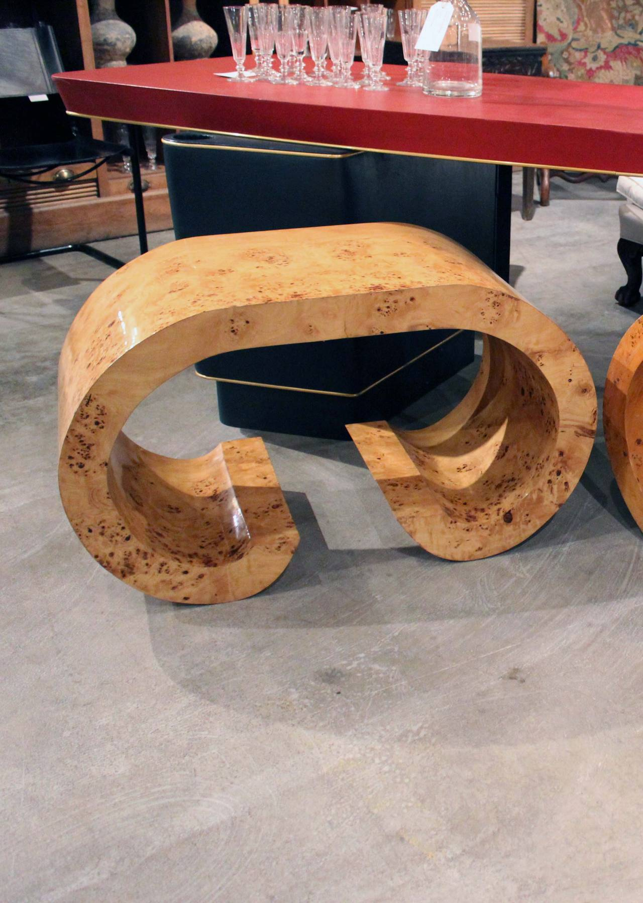 Pair of Italian Curved Shaped Tables 4