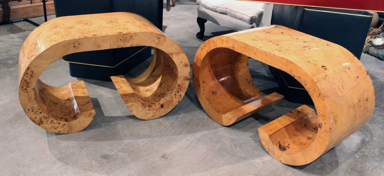 Pair of Italian Curved Shaped Tables 2