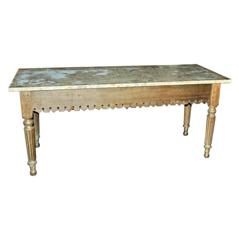 French Marble Top Table At 1stdibs