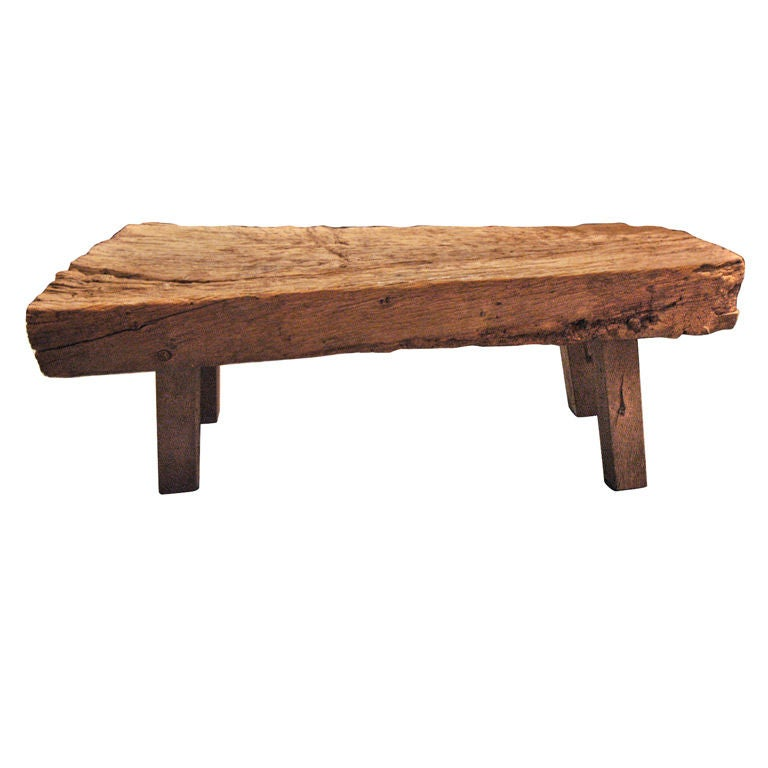 English low primitive wood table at 1stdibs for Low coffee table wood
