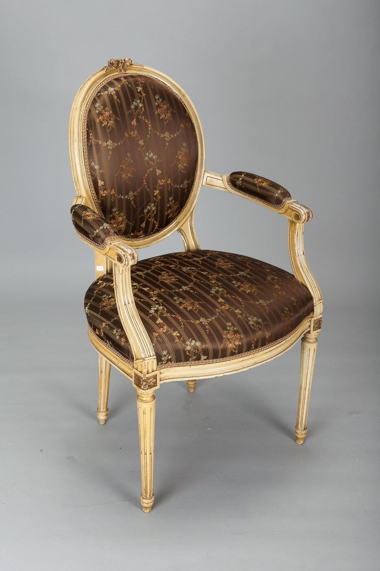 This napoleon iii club chair is no longer available - Pair Circa 1900s French Arm Chairs Upholstered In Silk