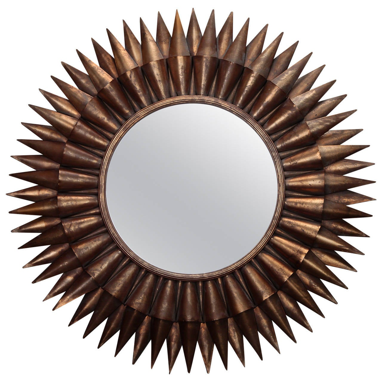 Large spanish gilt sunburst mirror for sale at 1stdibs for Mirrors for sale