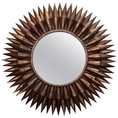 Large Spanish Gilt Sunburst Mirror