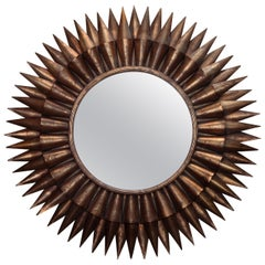Large Spanish Gilt Sunburst Mirror
