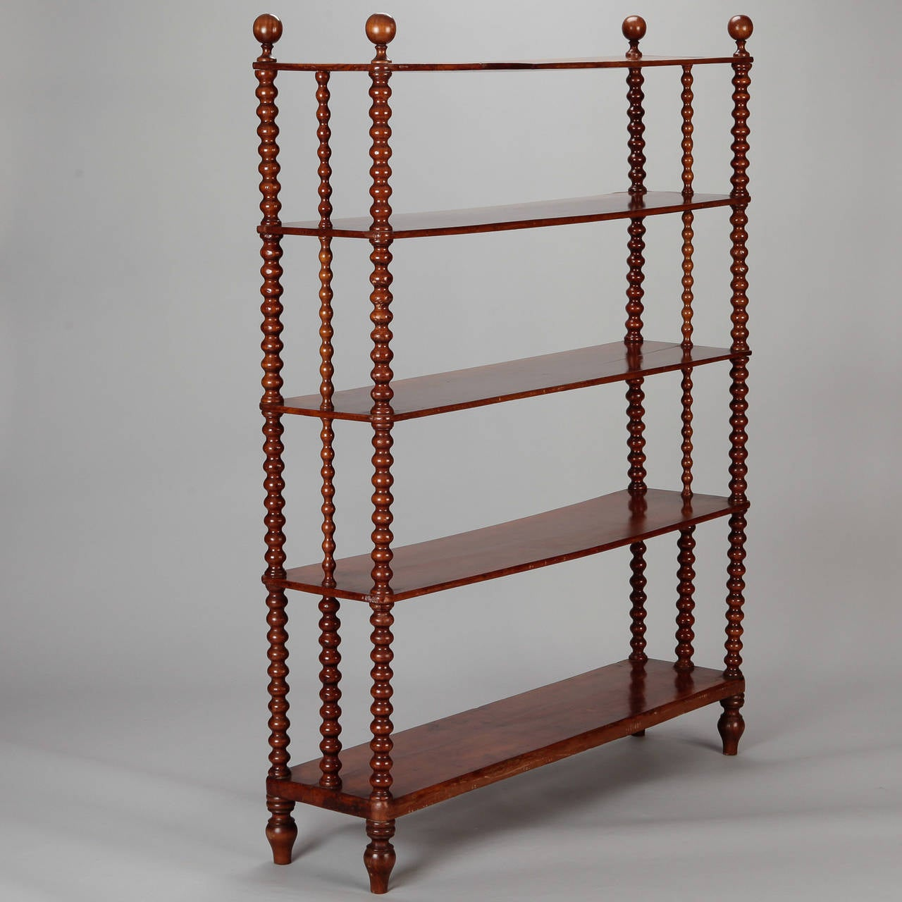 italian walnut etagere with bobbin supports at 1stdibs. Black Bedroom Furniture Sets. Home Design Ideas