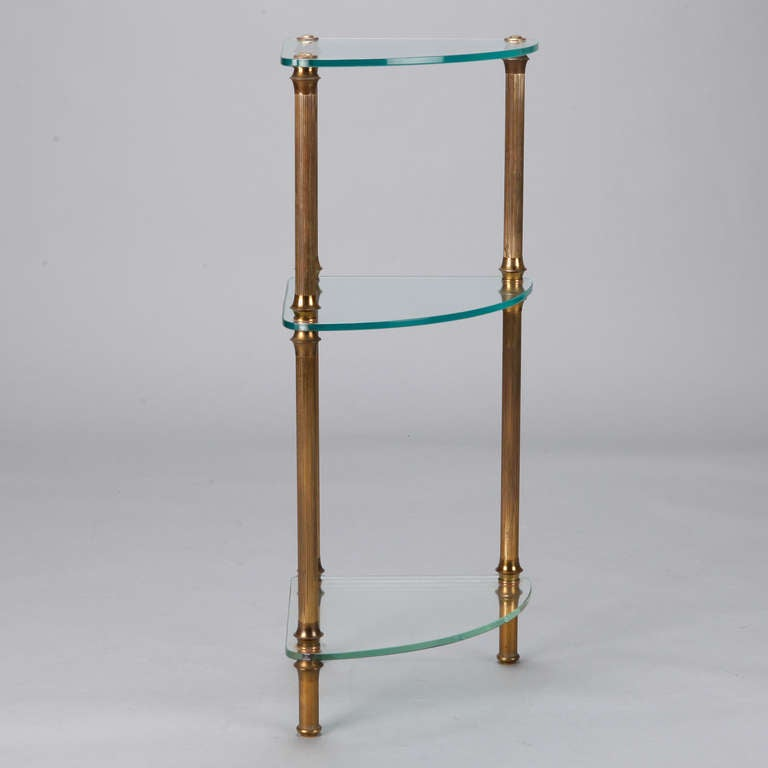Three tier brass and glass corner etagere at 1stdibs - Etagere 6 cases ...