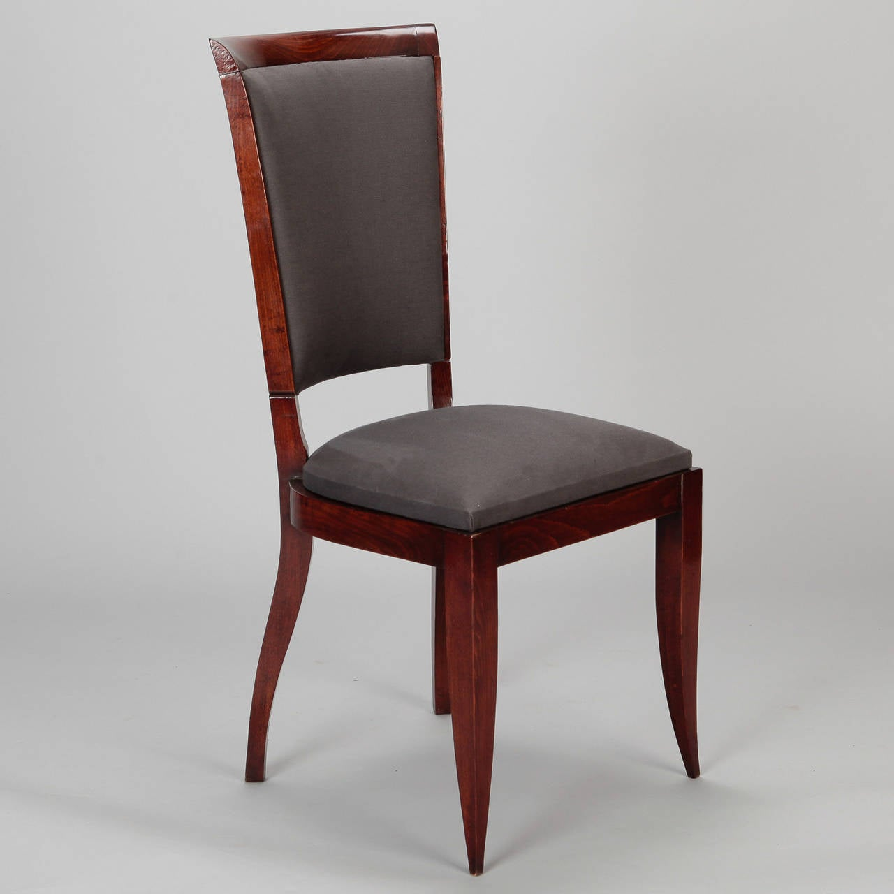 Set Of Six French Art Deco Dining Chairs At 1stdibs
