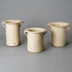 Tall Italian Wide Rim Cream Pots