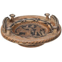 19th Century Grand Tour Footed Bowl with Handles