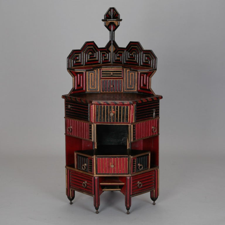 Unusual English Aesthetic Japanese Style Corner Cabinet image 2
