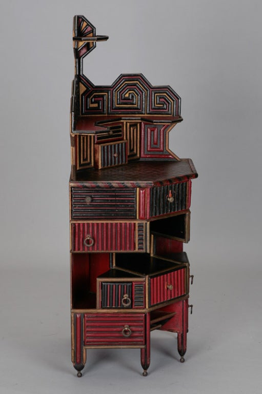 Unusual English Aesthetic Japanese Style Corner Cabinet image 9
