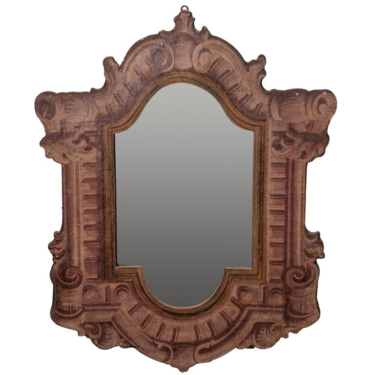 Neoclassical italian mirror with architectural style frame for Mirror frame styles