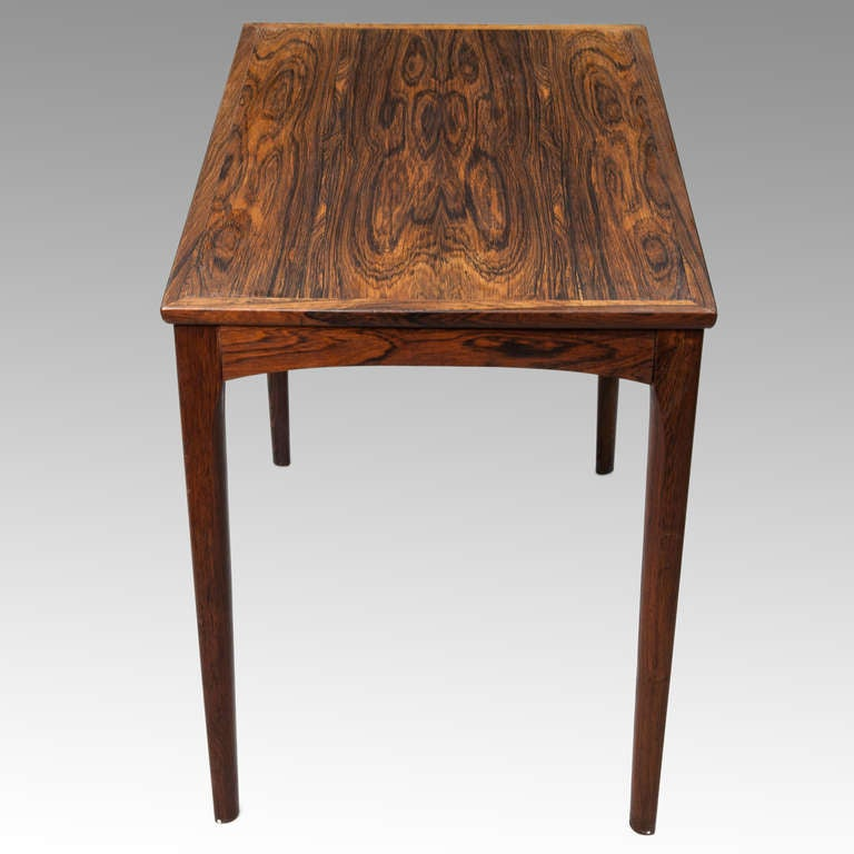 Mid Century Rose Wood Side Table Or Small Coffee Table For: Mid Century Solid Rosewood Side Table At 1stdibs