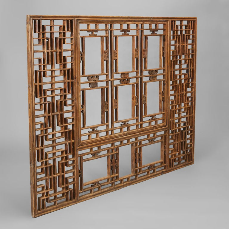th Century Chinese Wooden Screen at stdibs