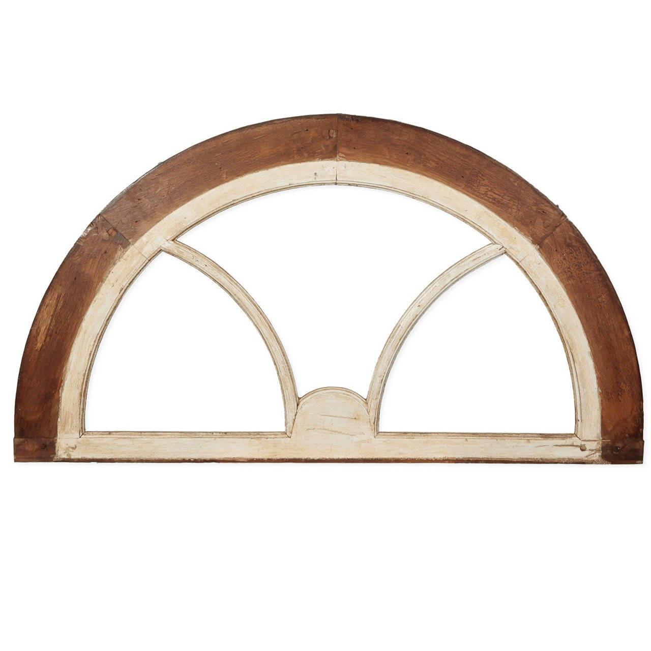 French White Painted Arched Window Frame At 1stdibs