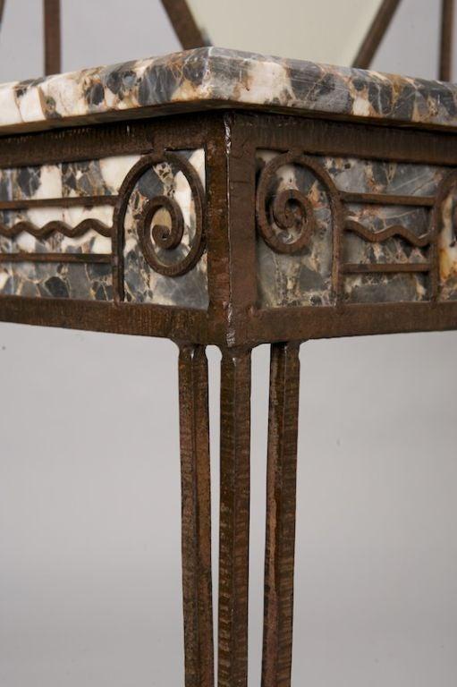 fer forge and marble art deco vanity at 1stdibs. Black Bedroom Furniture Sets. Home Design Ideas