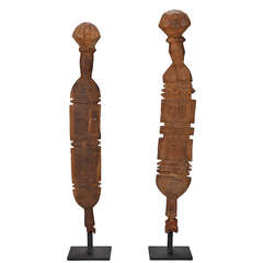 North African Hand Carved Wooden Element On Stand