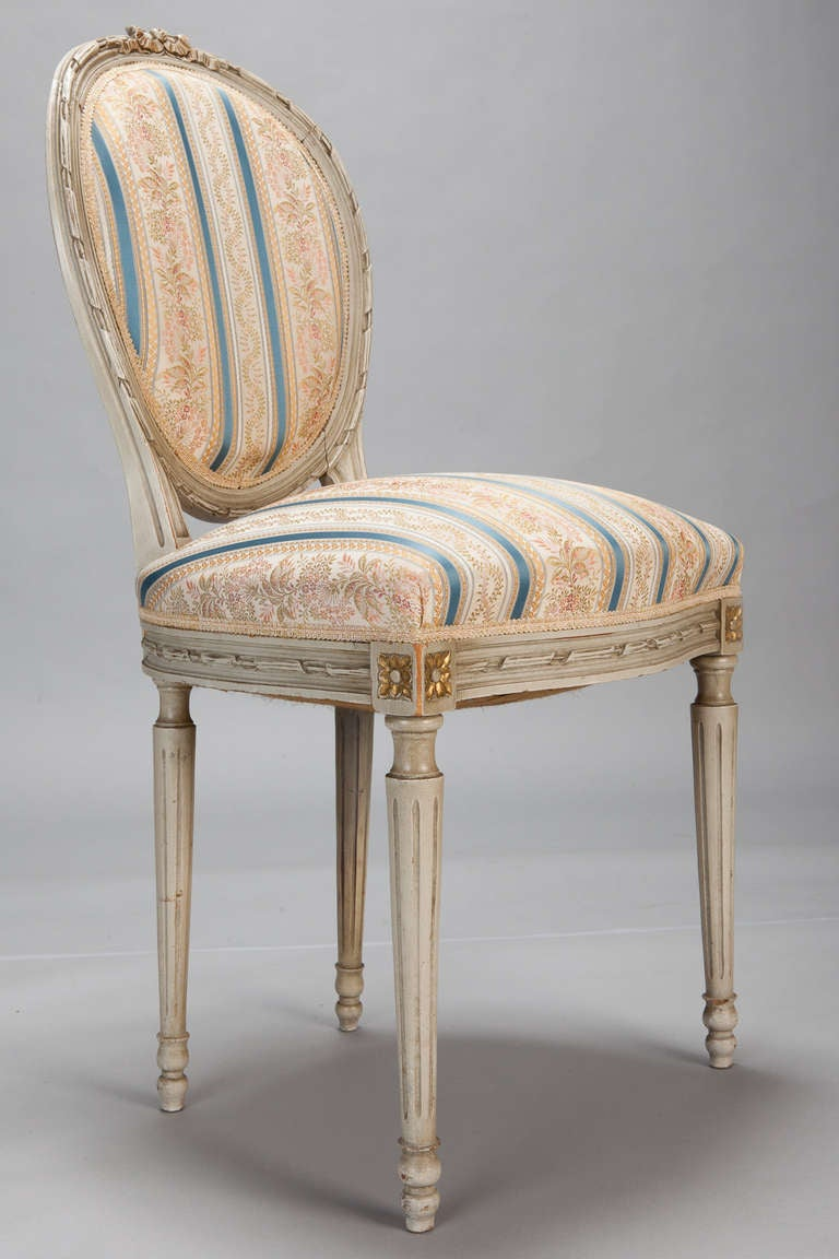 20th Century Set of Eight Upholstered French Dining Chairs