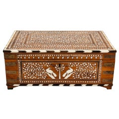 19th Century Anglo Indian Writing Box with Bone Inlay