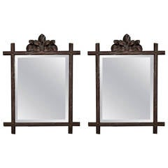 19th Century Black Forest Frame with Mirror
