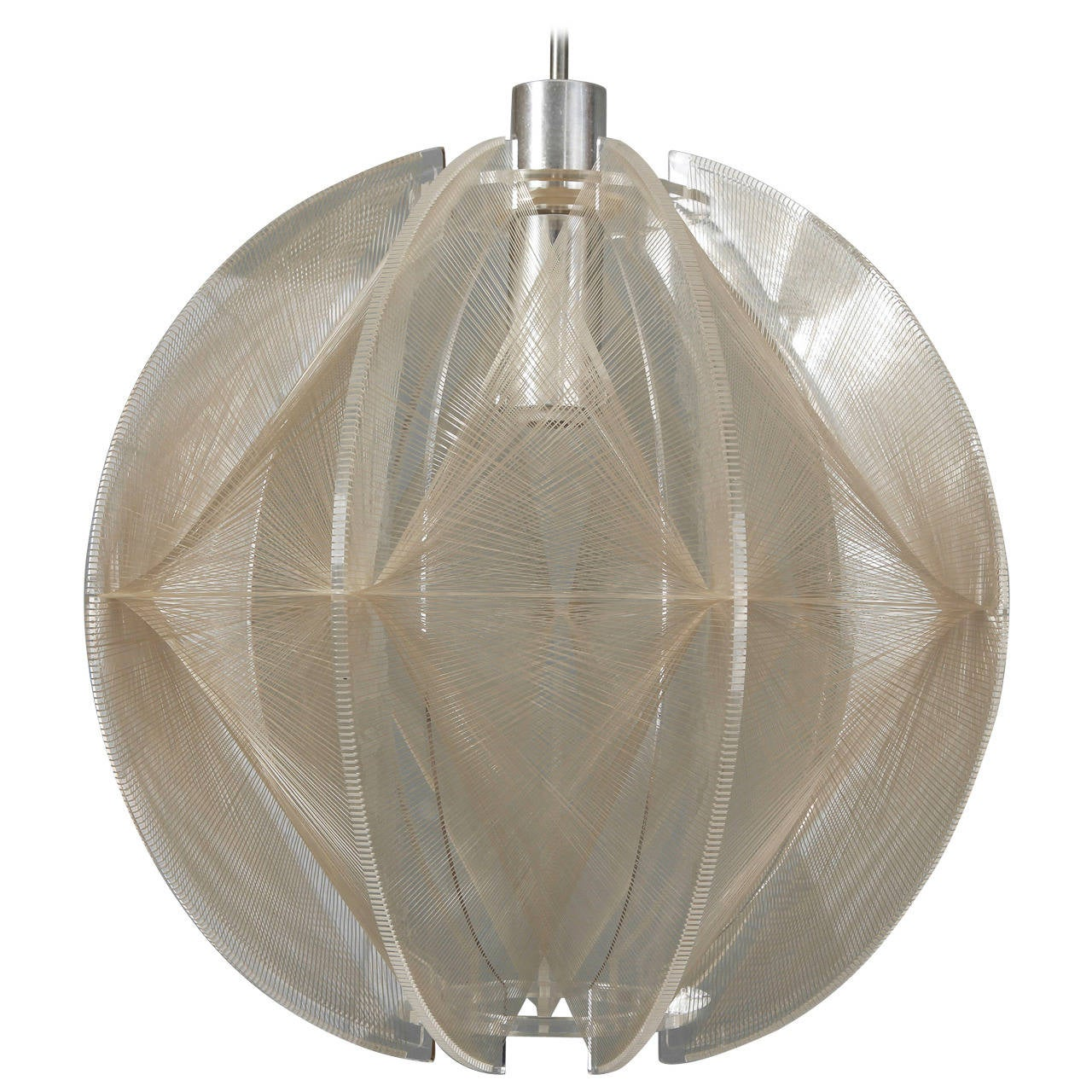 Mid Century Hanging Lucite String Light Fixture At 1stdibs